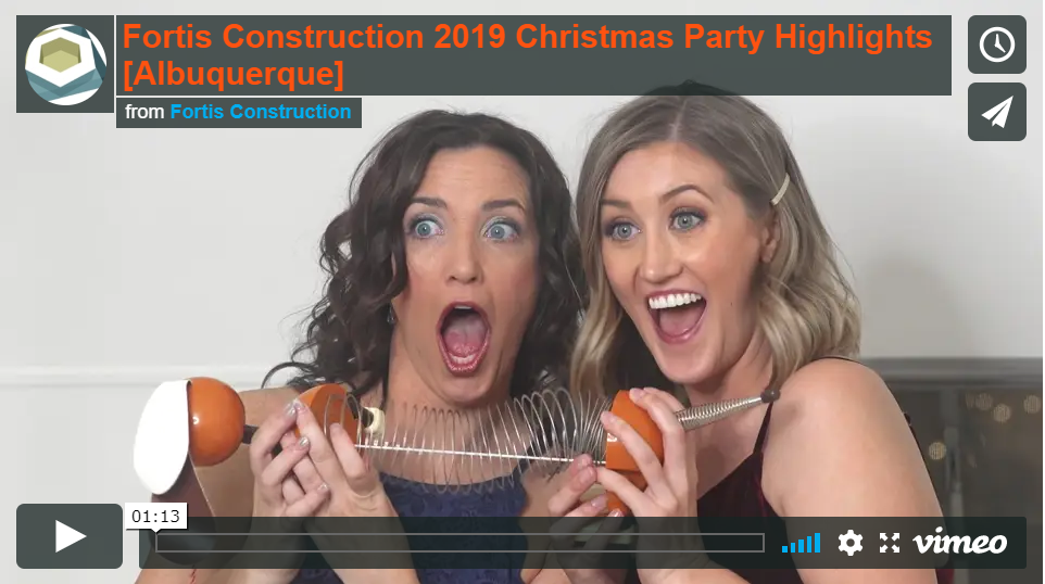 2019 Fortis Construction Christmas Party Highlight Video [Albuquerque]