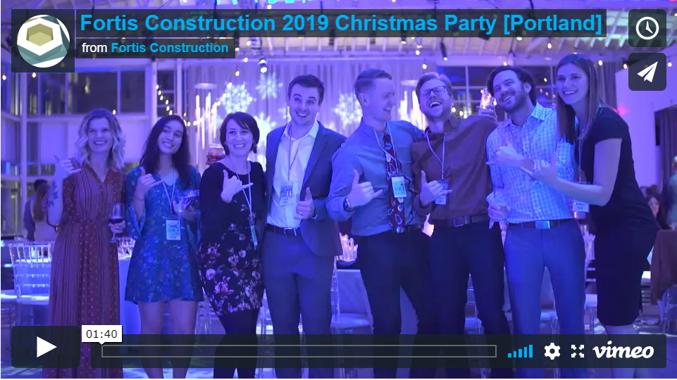 2019 Fortis Construction Christmas Party Highlight Video [Portland]