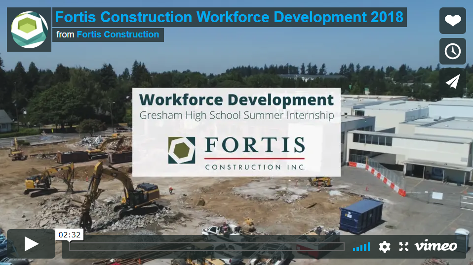 Fortis Workforce Development through a Gresham High School Summer Internship